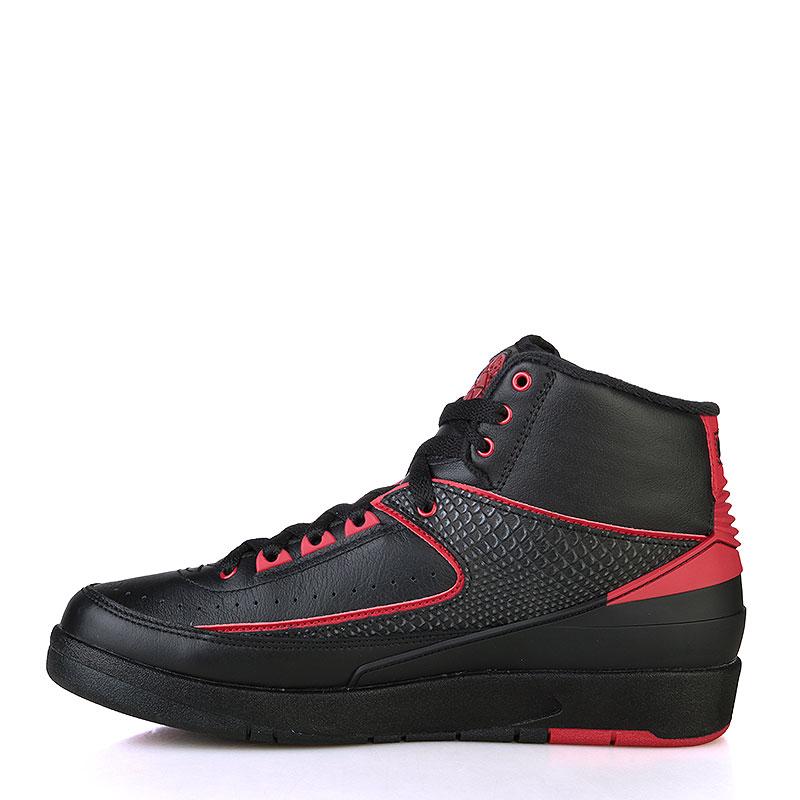 Купить мужские черные, красные  кроссовки air jordan ii retro в магазинах Streetball изображение - 3 картинки