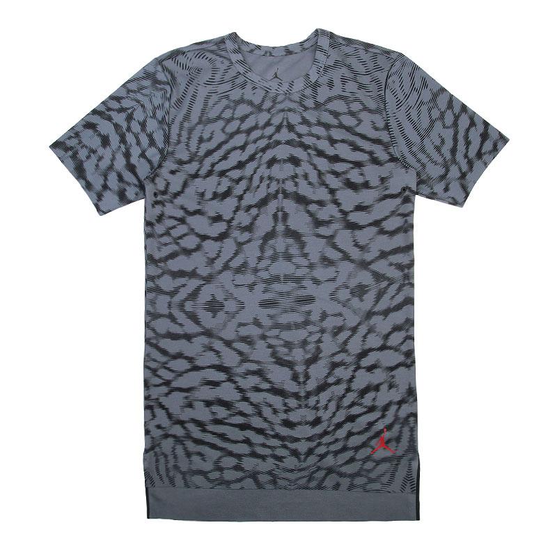 Купить мужскую серую  футболка jordan 23 lux s/s extended в магазинах Streetball изображение - 1 картинки