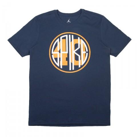 Купить мужскую синюю  футболка jordan spike 40 tee в магазинах Streetball - изображение 1 картинки