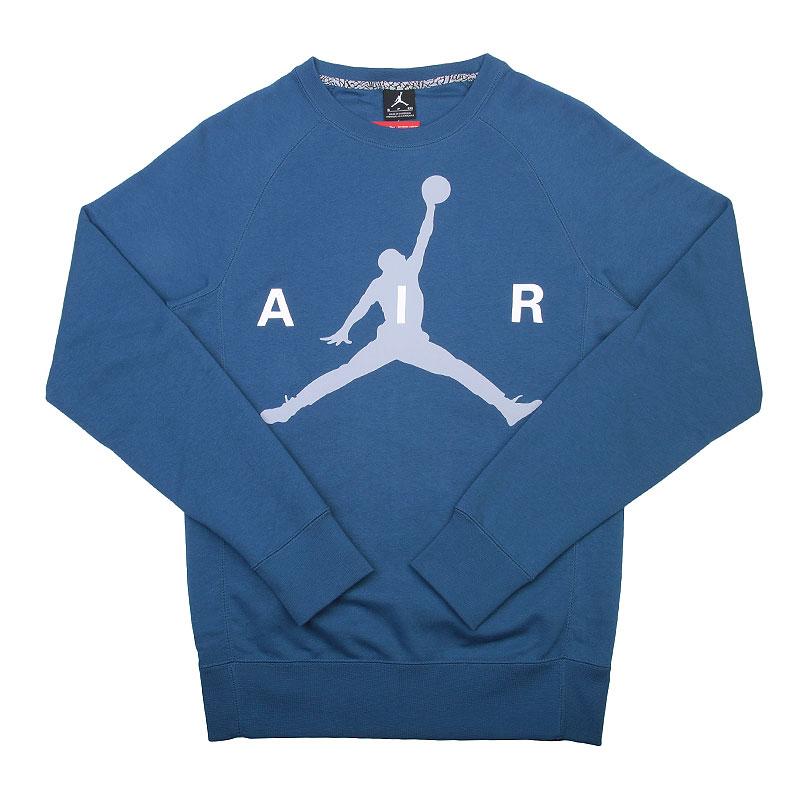 Купить мужскую синюю, серую, белую  толстовка jordan jumpman в магазинах Streetball изображение - 1 картинки