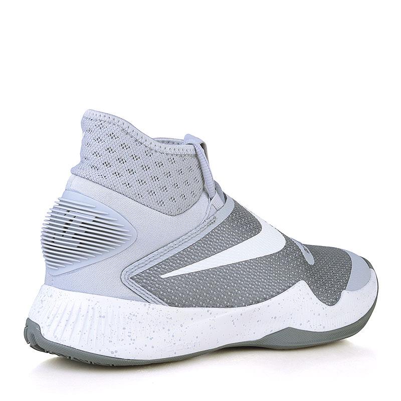 Купить мужские серые, белые  кроссовки nike zoom hyperrev 2016 в магазинах Streetball изображение - 2 картинки