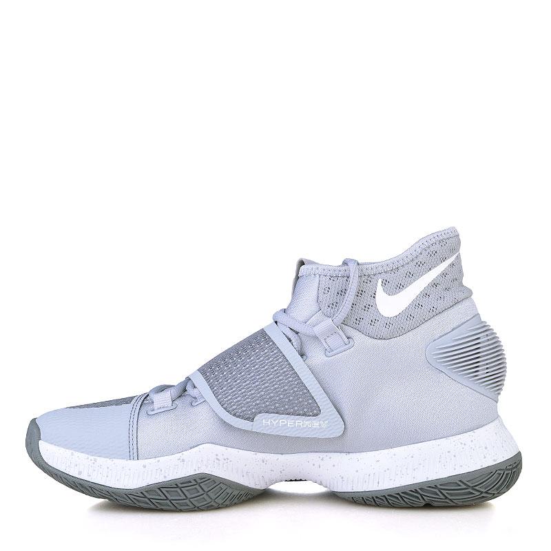 Купить мужские серые, белые  кроссовки nike zoom hyperrev 2016 в магазинах Streetball изображение - 3 картинки