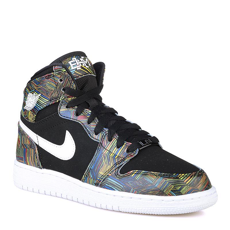 Кроссовки Air Jordan 1 Retro High BHM GSКроссовки lifestyle<br>Кожа, синтетика, текстиль, резина<br><br>Цвет: Черный, белый<br>Размеры US: 3.5Y;6Y;4Y;5.5Y;5Y<br>Пол: Женский