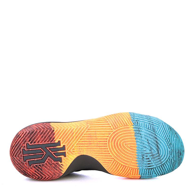 Купить мужские чёрные, оранжевые, красные, голубые  кроссовки  nike kyrie 2 bhm в магазинах Streetball изображение - 4 картинки