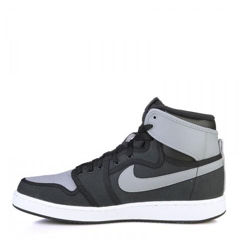 мужские черные, серые, белые  кроссовки air jordan 1 ko high og 638471-003 - цена, описание, фото 3