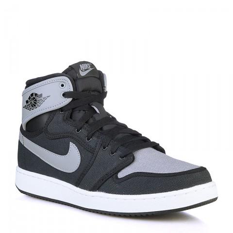 мужские черные, серые, белые  кроссовки air jordan 1 ko high og 638471-003 - цена, описание, фото 1