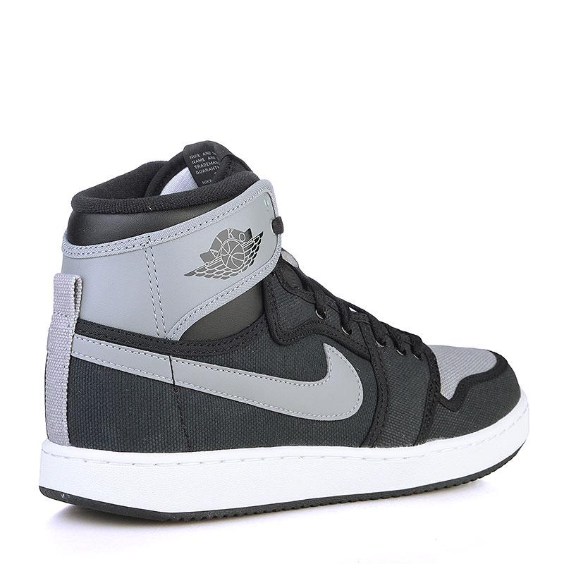 мужские черные, серые, белые  кроссовки air jordan 1 ko high og 638471-003 - цена, описание, фото 2