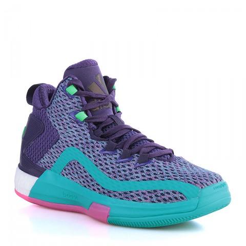 Купить детские фиолетовые, голубые  кроссовки adidas j wall 2 boost в магазинах Streetball - изображение 1 картинки