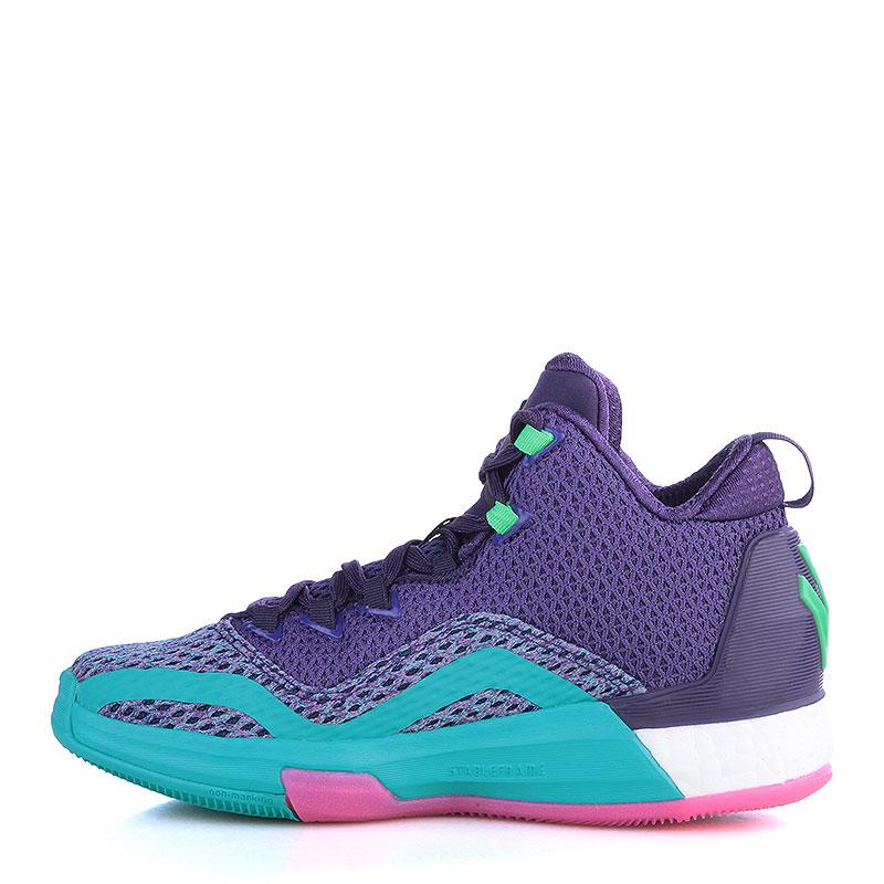 Купить детские фиолетовые, голубые  кроссовки adidas j wall 2 boost в магазинах Streetball изображение - 3 картинки