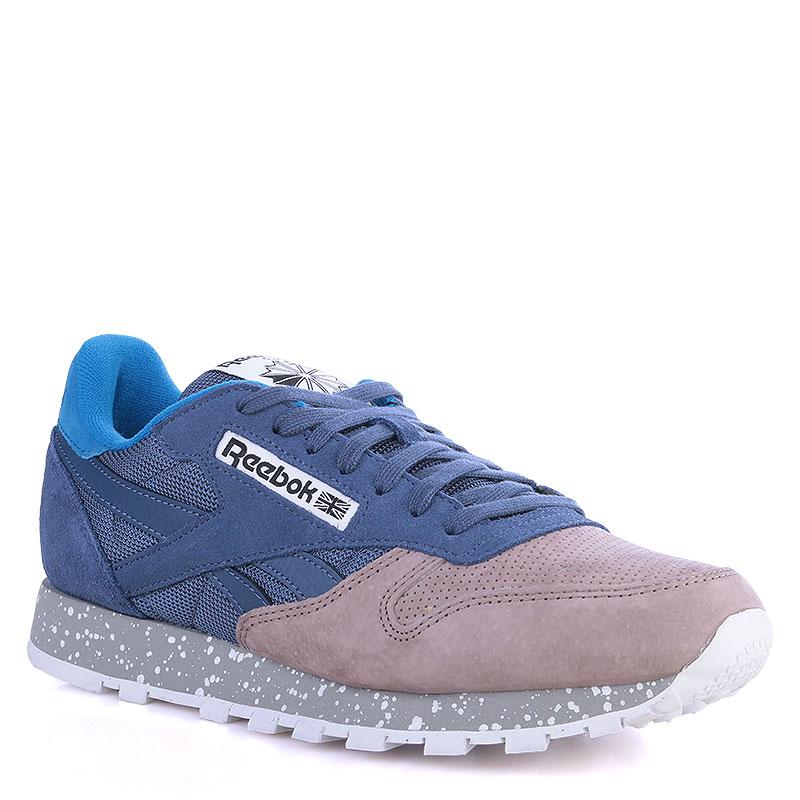 070d8f662d8d мужские синие,серые кроссовки reebok classic leather sm V67679 - цена,  описание, фото