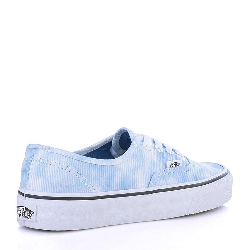 мужские голубые, белые  кеды vans authentic V3B9IWC - цена, описание, фото 2