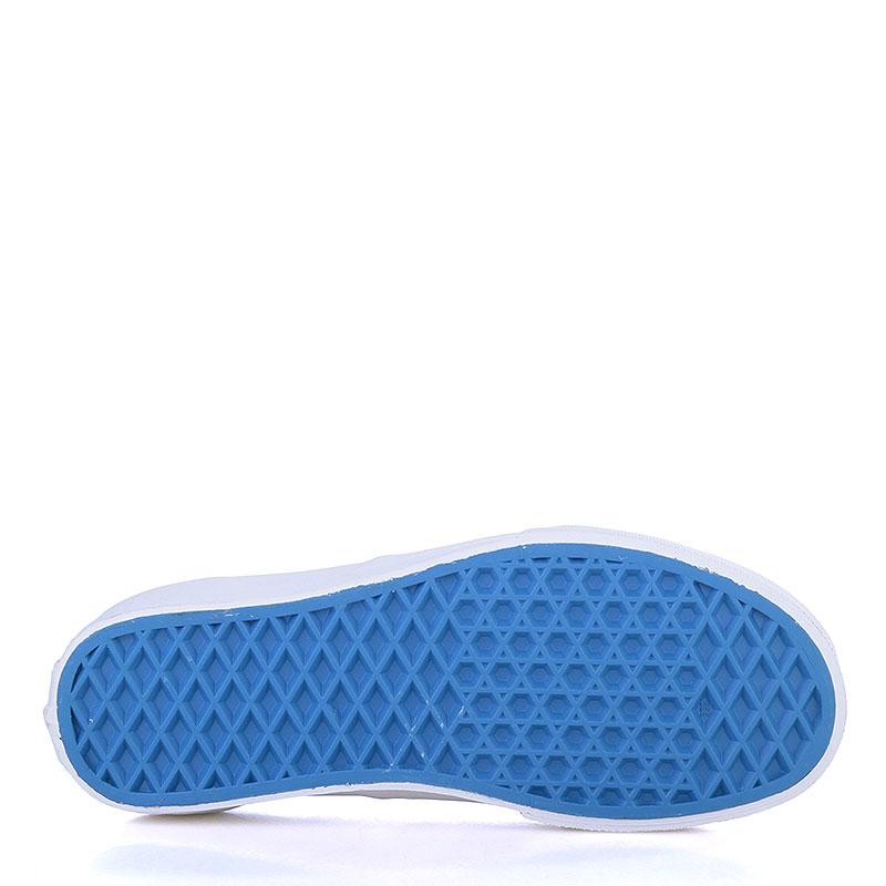 мужские голубые, белые  кеды vans authentic V3B9IWC - цена, описание, фото 4