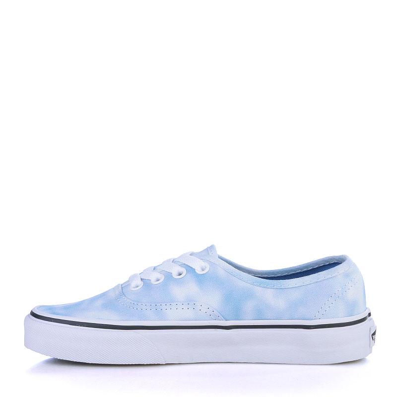 мужские голубые, белые  кеды vans authentic V3B9IWC - цена, описание, фото 3