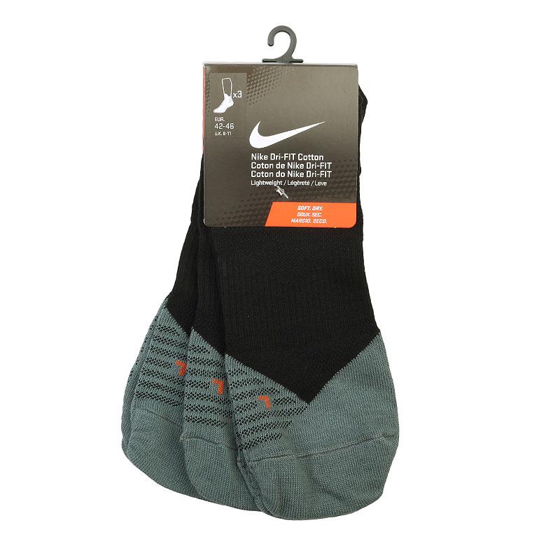 мужские черные, серые  носки nike dri-fit lightweight low-quarter SX4951-001 - цена, описание, фото 1