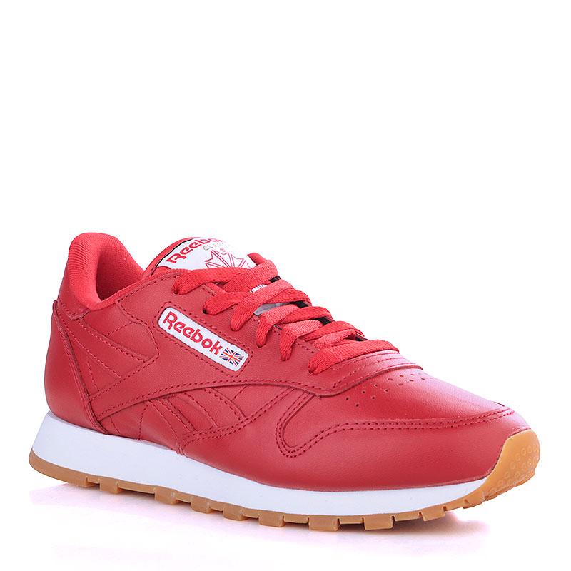 Кроссовки Reebok Classic Leather GUMКроссовки lifestyle<br>Кожа, текстиль, резина<br><br>Цвет: Красный, белый<br>Размеры US: 7.5<br>Пол: Женский