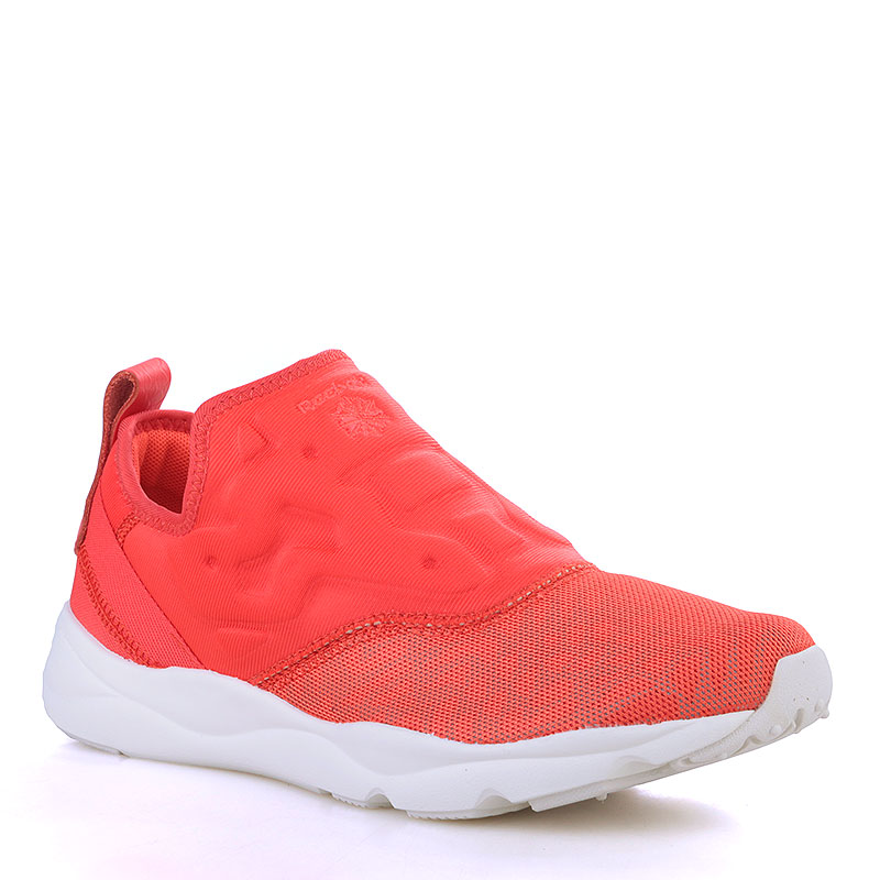 Кроссовки Reebok Furylite Slip-On LuxКроссовки lifestyle<br>Кожа, текстиль, резина<br><br>Цвет: Коралловый, белый<br>Размеры US: 5;5.5;6;6.5;7;7.5;8;8.5