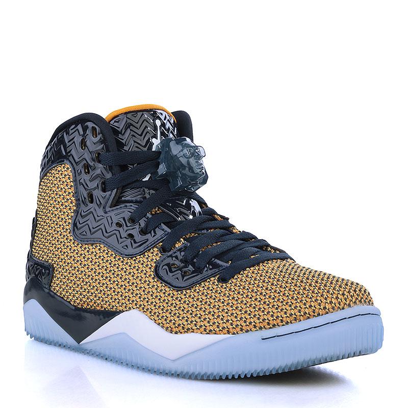 Кроссовки Air Jordan Spike FortyКроссовки lifestyle<br>Текстиль, резина<br><br>Цвет: Чёрный, жёлтый, белый, голубой<br>Размеры US: 7.5<br>Пол: Мужской