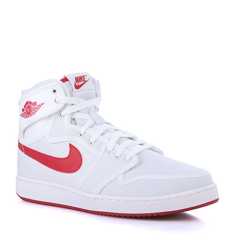 Кроссовки Air Jordan 1 KO HighКроссовки lifestyle<br>Текстиль, резина<br><br>Цвет: Белый, красный<br>Размеры US: 10;10.5;11;11.5<br>Пол: Мужской