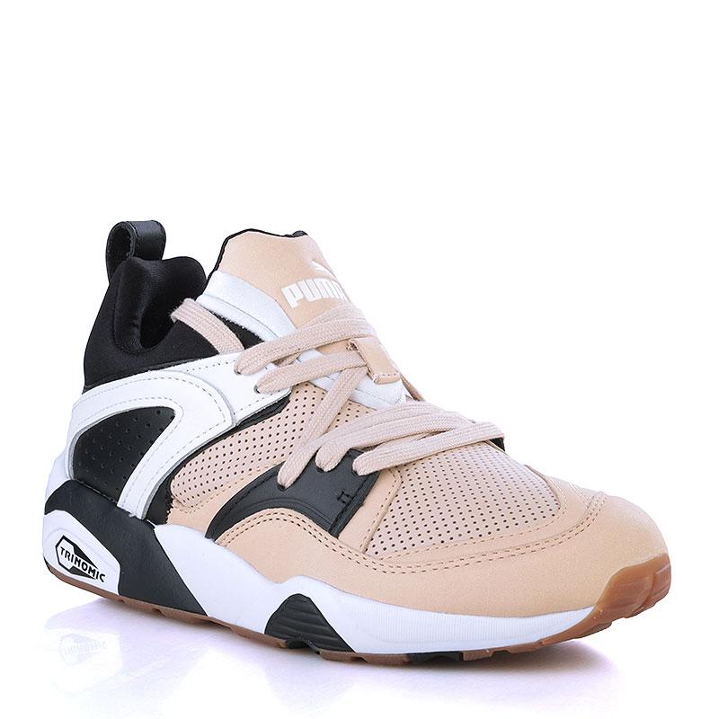 женские кремовые, чёрные, белые кроссовки puma blaze of glory for mt  36190101 - цена 2f7fecc5aa8
