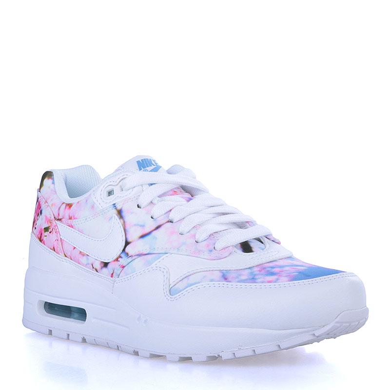 Кроссовки Nike Sportswear WMNS Air Max 1 PrintКроссовки lifestyle<br>Кожа, текстиль, резина<br><br>Цвет: Белый<br>Размеры US: 5;5.5<br>Пол: Женский