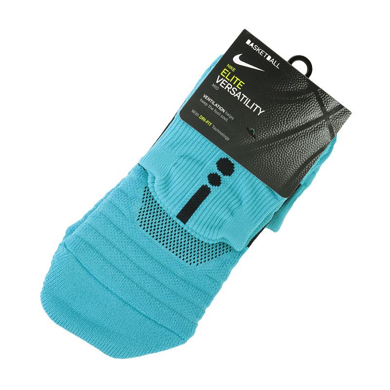 Носки NikeНоски<br>50% нейлон,35% полиэстер, 10% хлопок, 5% эластан<br><br>Цвет: Голубой<br>Размеры US: M;L;XL<br>Пол: Мужской