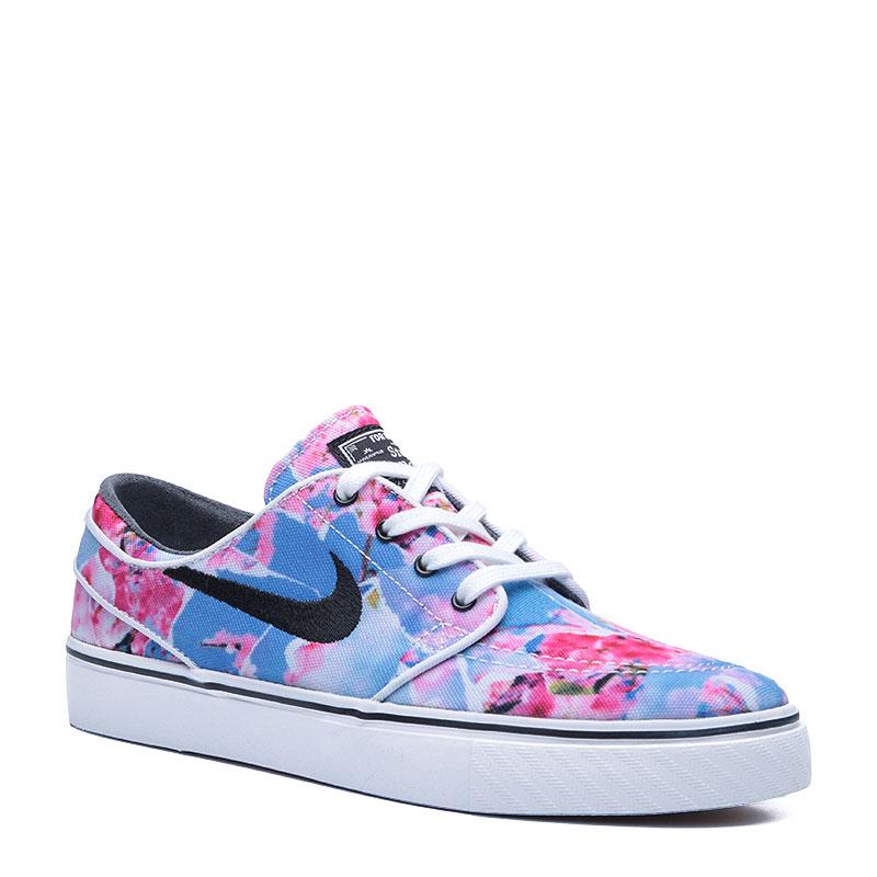 Кроссовки Nike SB Zoom Stefan Janoski CNVS PRMКроссовки lifestyle<br>Текстиль,резина<br><br>Цвет: Голубой,розовый,белый<br>Размеры US: 4.5;5;5.5<br>Пол: Мужской