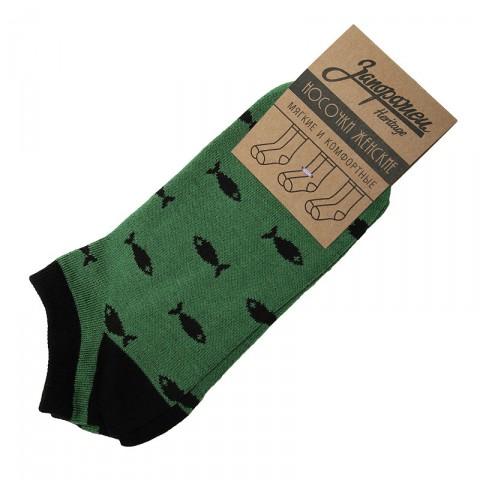 женские зелёные, чёрные  носки запорожец heritage рыбки  W Рыбки-кр/зел - цена, описание, фото 1