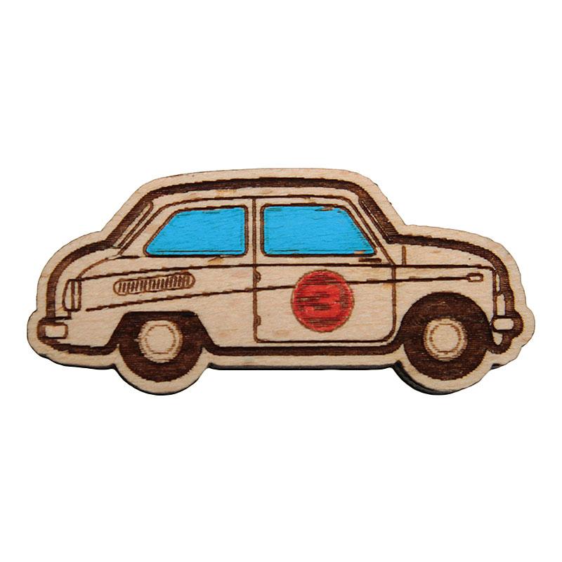 Значок Запорожец heritage МашинкаДругое<br>Дерево<br><br>Цвет: Коричневый<br>Размеры : OS