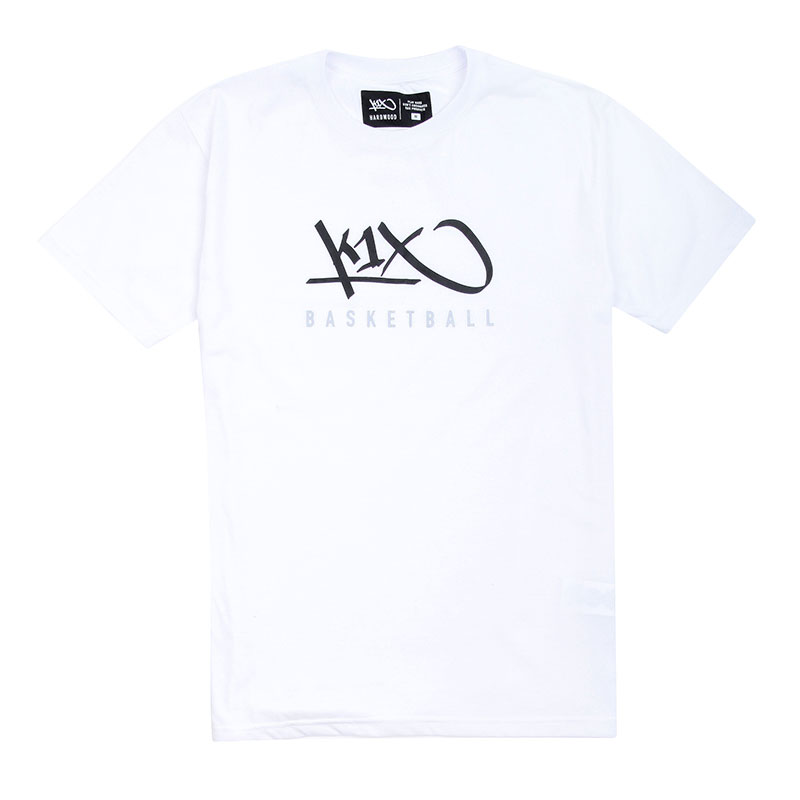 Купить мужскую белую  футболка k1x hardwood tee mk3 в магазинах Streetball изображение - 1 картинки