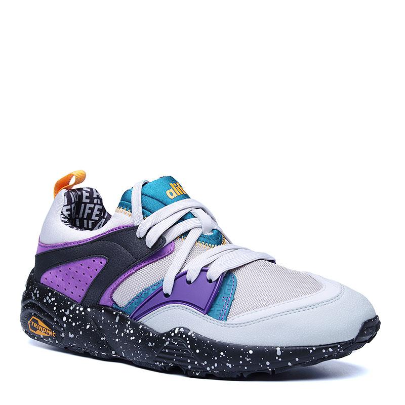 Кроссовки Puma Blaze of glory X AlifeКроссовки lifestyle<br>кожа,текстиль,резина<br><br>Цвет: Фиолетовый,серый ,черный<br>Размеры UK: 7<br>Пол: Мужской