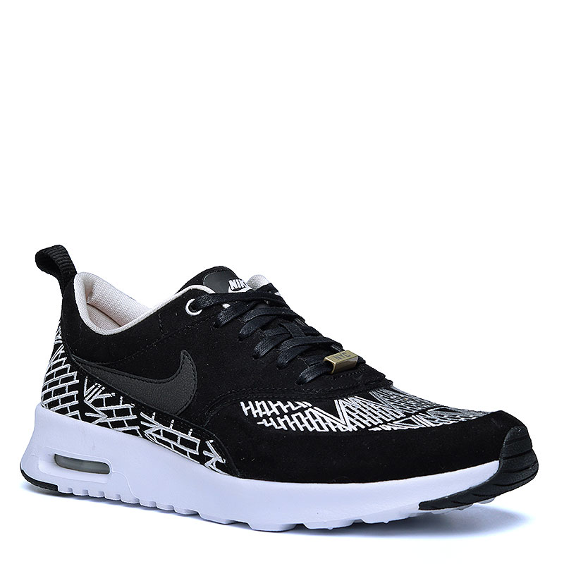 женские черные, белые  кроссовки nike wmns air max thea lotc qs 847072-001 - цена, описание, фото 1