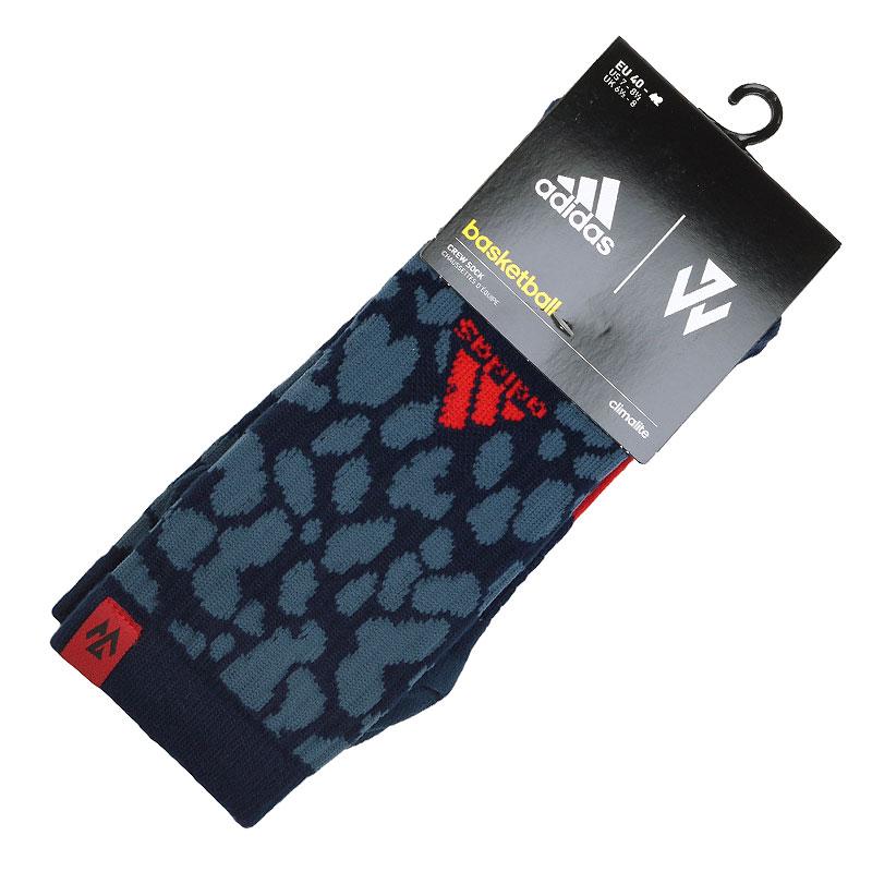 Носки adidas Wall GR CrewНоски<br>Хлопок, нилон, акрил, полиэстер, эластан, шерсть<br><br>Цвет: Тёмной-синий, красный<br>Размеры UK: 40-42;43-45<br>Пол: Мужской