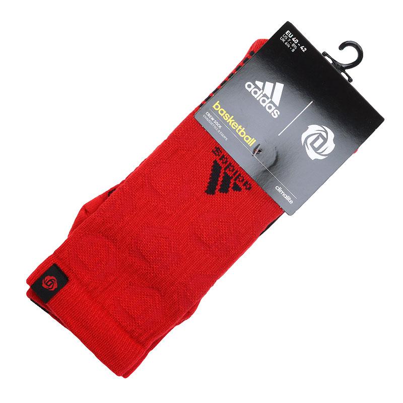 Носки adidas D Rose GR CrewНоски<br>Хлопок, нилон, акрил, полиэстер, эластан, шерсть<br><br>Цвет: Красный, черный<br>Размеры UK: 40-42<br>Пол: Мужской