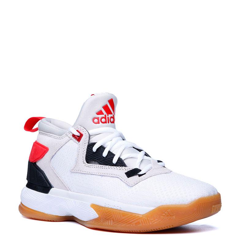 Кроссовки adidas D Lillard  2Кроссовки баскетбольные<br>Синтетика,текстиль,резина<br><br>Цвет: Белый,красный<br>Размеры UK: 3;3.5;4;5<br>Пол: Детский