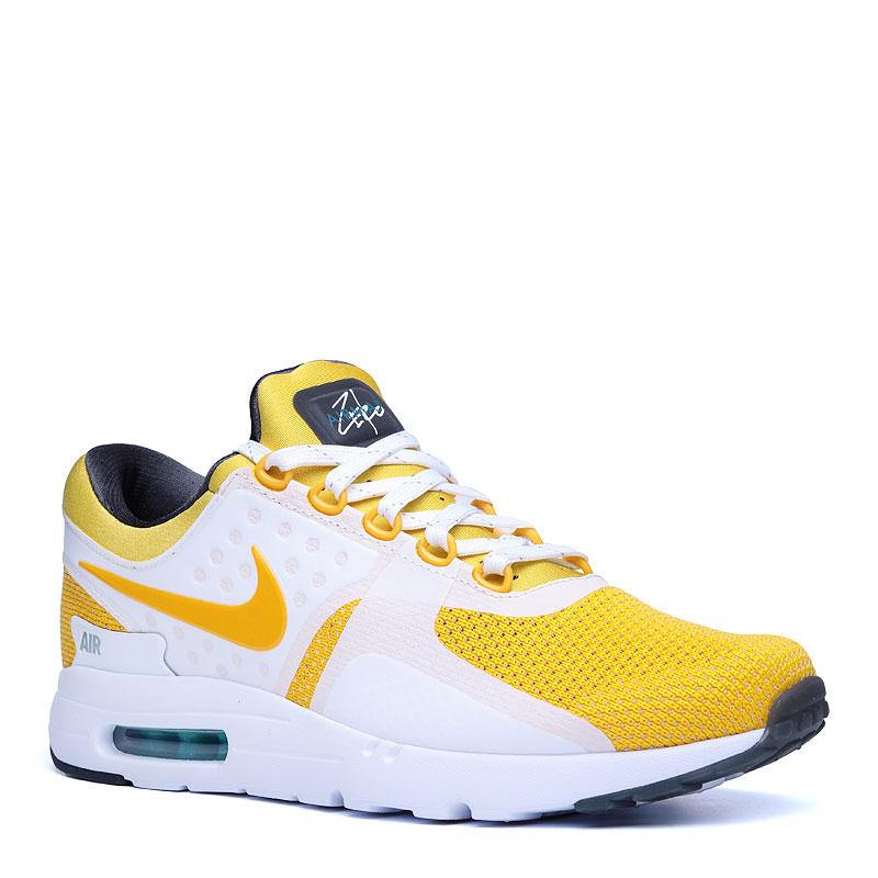 Кроссовки Nike Sportswear Air Max Zero QSКроссовки lifestyle<br>текстиль,резина<br><br>Цвет: Желтый,белый<br>Размеры US: 6<br>Пол: Мужской