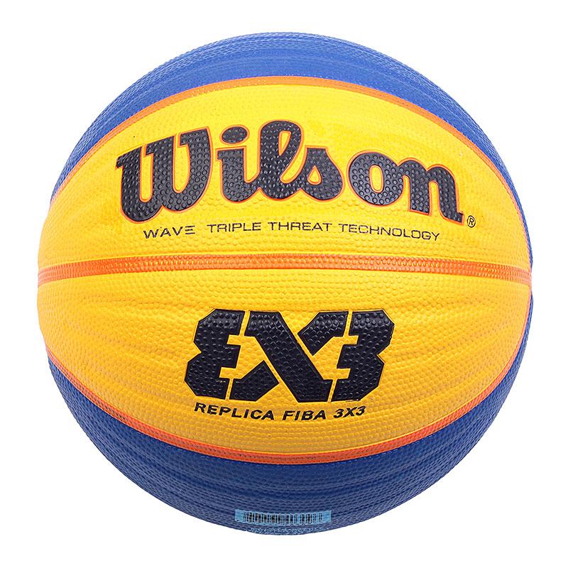 Мяч Wilson Replica Fiba 3x3Мячи<br>Резина<br><br>Цвет: Синий, жёлтый<br>Размеры : 6