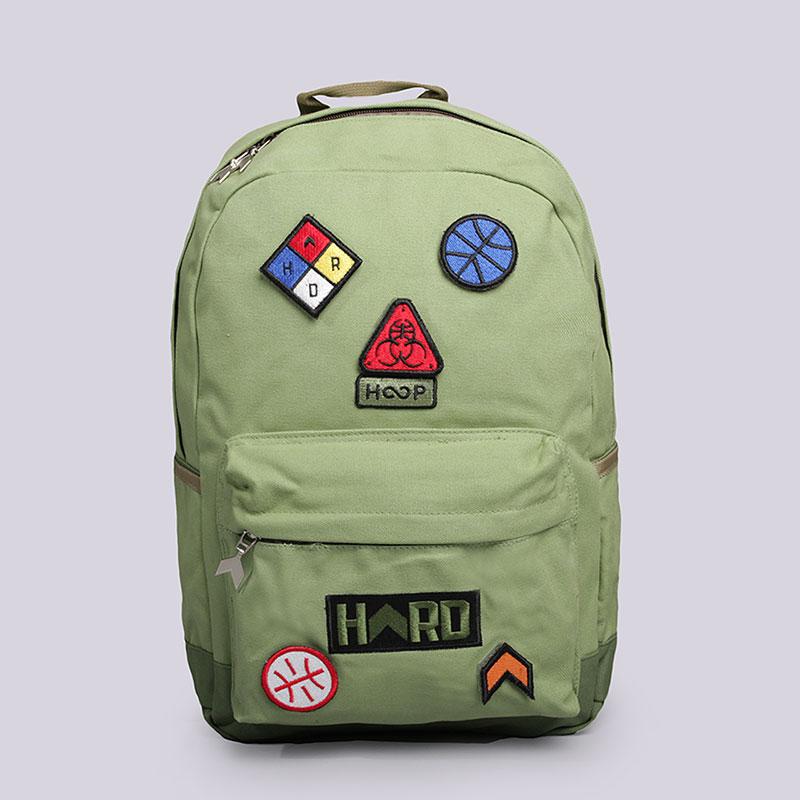 Рюкзак Hard HD Backpack MediumСумки, рюкзаки<br>Хлопок, полиэстер<br><br>Цвет: Зелёный<br>Размеры : OS
