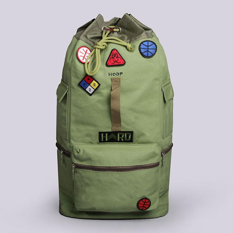 Рюкзак Hard HD Backpack LargeСумки, рюкзаки<br>Хлопок, полиэстер<br><br>Цвет: Зелёный<br>Размеры : OS