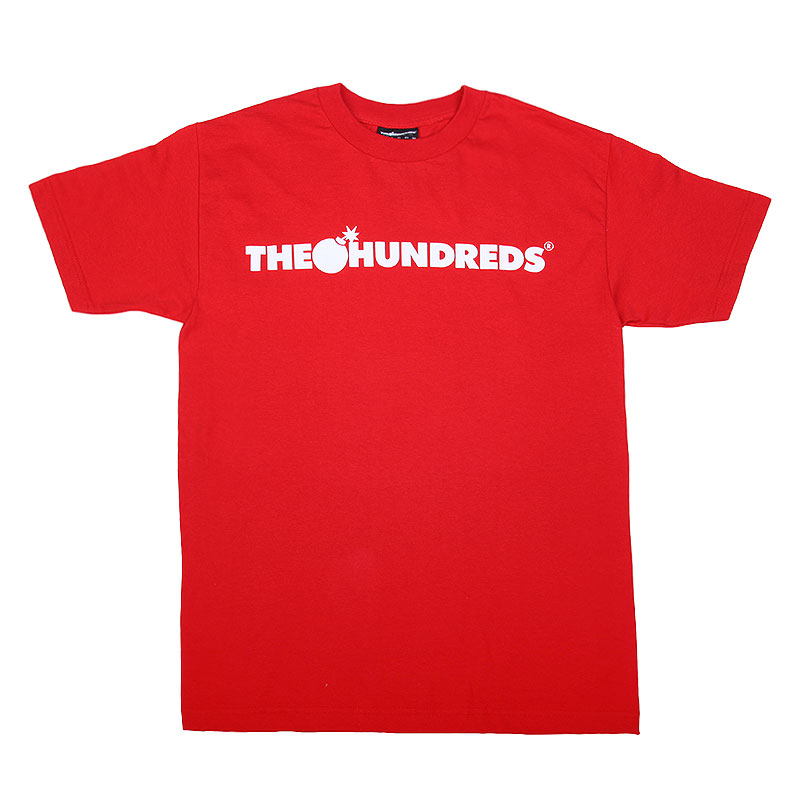 Футболка the hundreds Forever Bar T-ShirtФутболки<br>Хлопок<br><br>Цвет: Красный<br>Размеры : L<br>Пол: Мужской