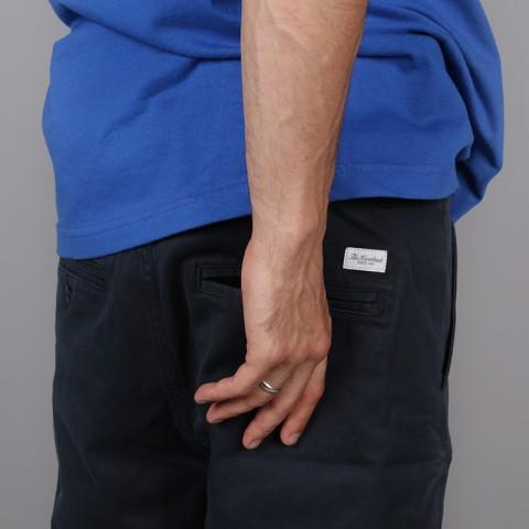 мужские тёмно-синие  шорты the hundreds industry chino short T16P204038-navy - цена, описание, фото 4