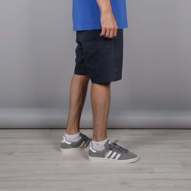 мужские тёмно-синие  шорты the hundreds industry chino short T16P204038-navy - цена, описание, фото 2
