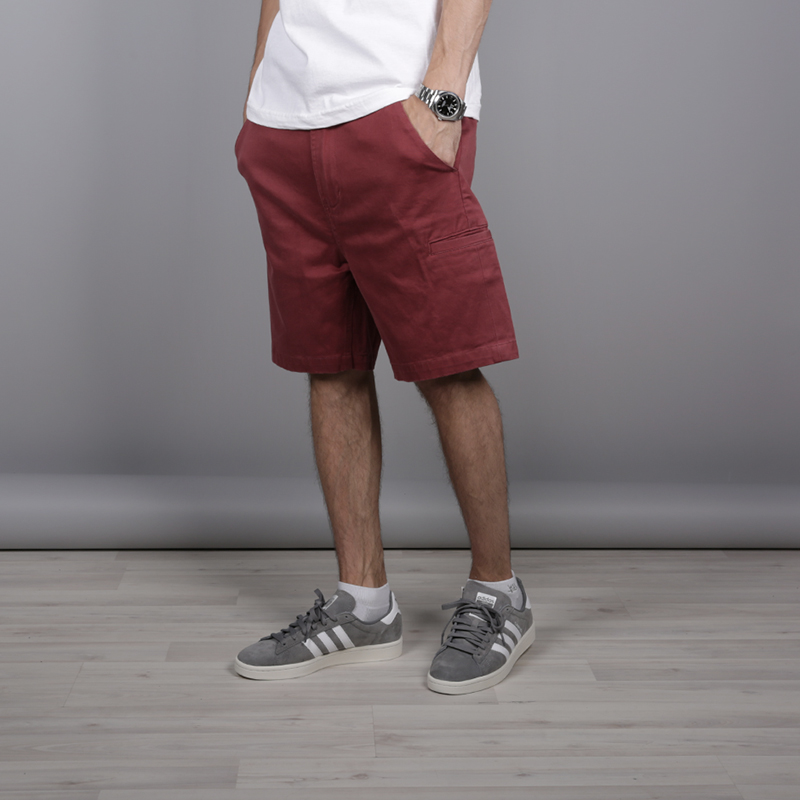 мужские бордовые  шорты the hundreds industry chino short T16P204038-brgnd - цена, описание, фото 2