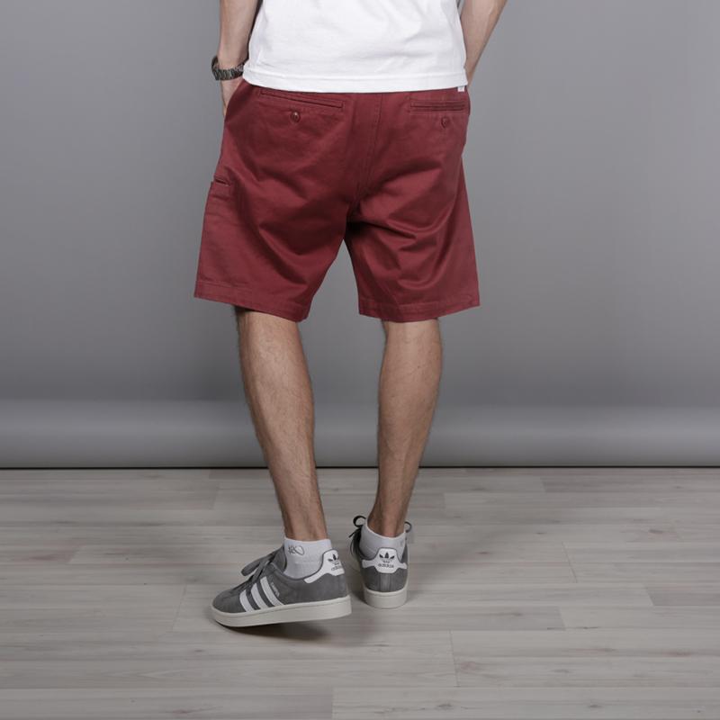 мужские бордовые  шорты the hundreds industry chino short T16P204038-brgnd - цена, описание, фото 3