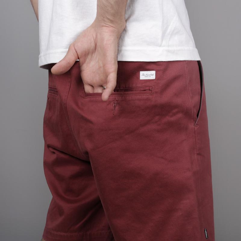 мужские бордовые  шорты the hundreds industry chino short T16P204038-brgnd - цена, описание, фото 4