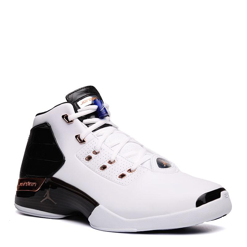 Кроссовки Air Jordan 17 + RetroКроссовки баскетбольные<br>кожа,текстиль,резина<br><br>Цвет: Белый,черный<br>Размеры US: 10;10.5;11;11.5;12.5;8;8.5;9.5