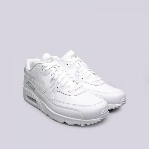 мужские белые  кроссовки nike air max 90 leather 302519-113 - цена, описание, фото 4