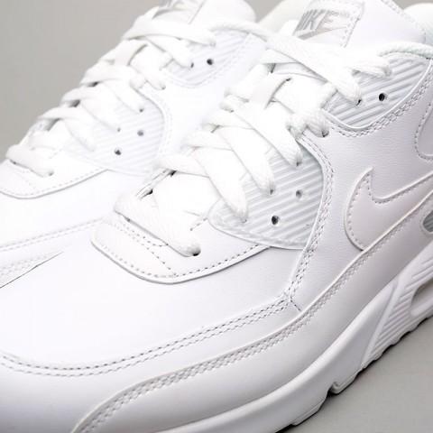 мужские белые  кроссовки nike air max 90 leather 302519-113 - цена, описание, фото 5