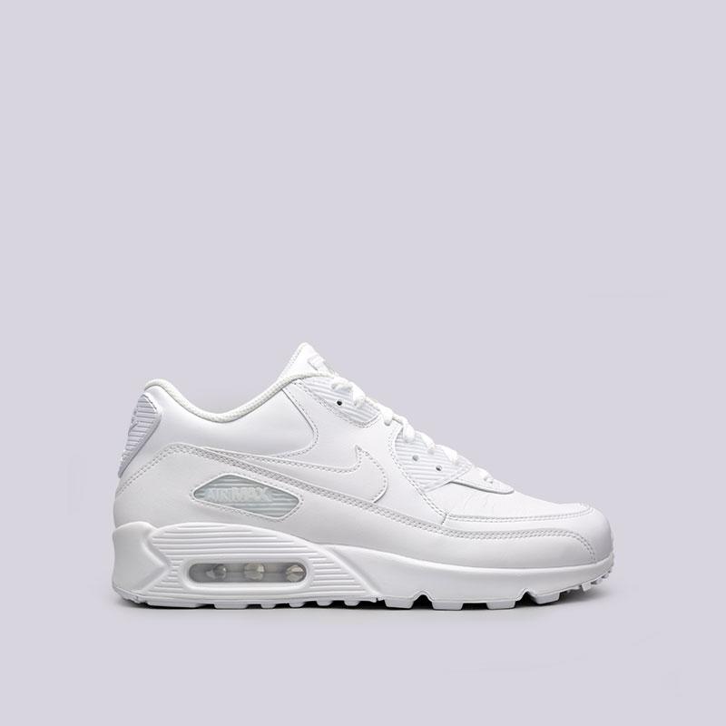 70d48f9f мужские белые кроссовки nike air max 90 leather 302519-113 - цена, описание,