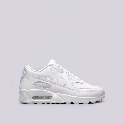 мужские белые  кроссовки nike air max 90 leather 302519-113 - цена, описание, фото 1