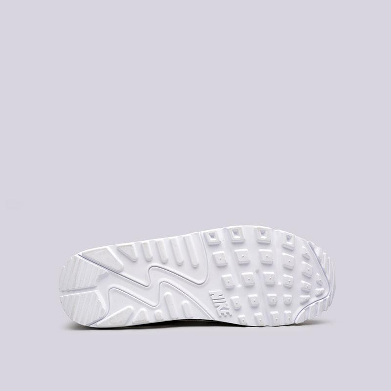 мужские белые  кроссовки nike air max 90 leather 302519-113 - цена, описание, фото 2